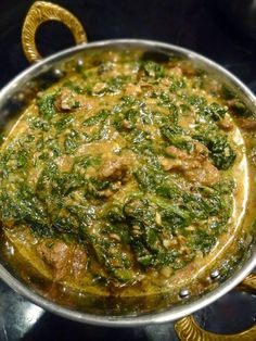Scrumpdillyicious: Saag Gosht: Indian Lamb & Spinach Curry with Yogurt Lamb Recipes, Curry Recipes, Meat Recipes, Indian Food Recipes, Asian Recipes, Lobster Recipes, Asian Foods, Vegetarian Recipes, Kitchen