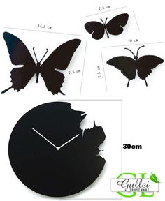 Gullei Trustmart : Creative Butterflies Anniversary Gift Wall Clock [GTM00606] - $80.00-Couple Gifts, Cool USB Drives, Stylish iPad/iPod/iPhone Cases & Home Decor Ideas