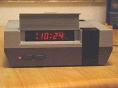 Nintendo Clock. This is pretty awesome.