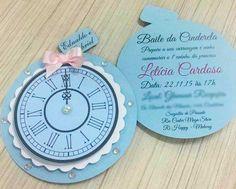 Convite Cinderela para debutante