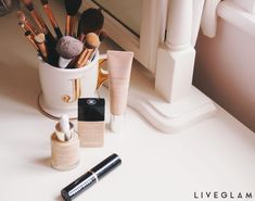 How to Avoid Crusty, Flaky & Cakey Foundation - LiveGlam Pro Makeup Tips, Cake Face, Diffuser, Reflection, Foundation, Mirror, Blog, Beauty, Instagram