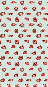 Este es un fondo divertido con labios de mujer