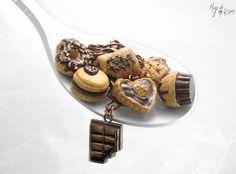 Chocoholic Bracelet Chocolate Miniature Food от HugsKissesMINI