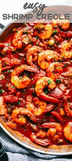 Easy Shrimp Creole Easy Shrimp Creole is a spicy, chunky tomato and green pepper mixture that coats tender shrimp to make a hearty family meal done right! Creole Recipes, Cajun Recipes, Shrimp Recipes, Fish Recipes, Cooking Recipes, Recipies, Shrimp Creole, Cajun Shrimp, Cajun Food