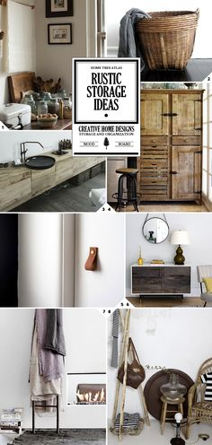 Some simple rustic storage ideas include using: Wooden crates. These can be stacked up to create makeshift shelving Stone bowls and wooden trays to group clutter items together (remotes on the coffee table   watches, phone, keys on the bedside table   toothbrush/paste, lotions in the bathroom). Glass bottles and glass jars can be used […]