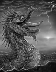 Scary Sea Monster Drawing  - Bing Images