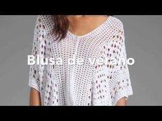 Blusa Crochet para Todos los Talles / Tutorial   Crochet y Dos agujas - Patrones de tejido