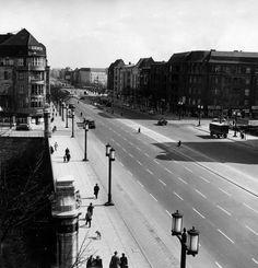 Berlin-Charlottenburg 1956, Kaiserdammbrücke (ohne Autobahnunterführung)