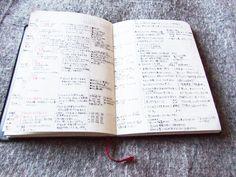 無印良品の手帳のウィークリー
