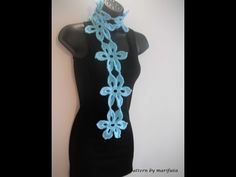 Free crochet patterns and video tutorials: how to crochet mint scarf or belt free pattern tutorial