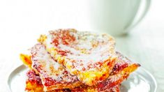 This doughnut french toast recipe is what Sunday mornings were made for White Bread, Sunday Morning, Brunch Recipes, Doughnut, Fries, French Toast, Vegetarian, Delicious Magazine, Yummy Food
