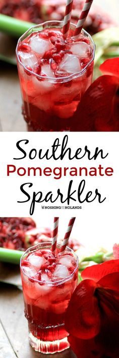 Southern Pomegranate Sparkler by Noshing With The Nolands is a festive cocktail to enjoy this holiday season!