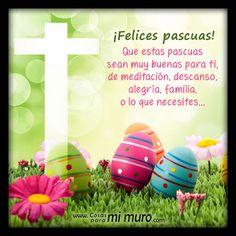 """Banco de Imágenes para Ver, Disfrutar y Compartir...: 100 tarjetas, postales y gifs animados con mensajes de """"Feliz Pascua"""" y """"Felices Pascuas"""" para compartir en Facebook y WhatsApp - Happy Easter"""