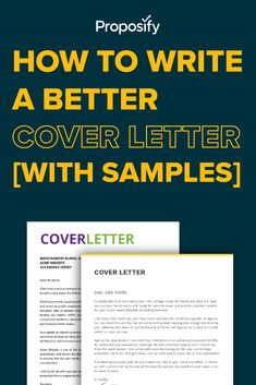 How do you write a winning cover letter for your proposal? In this post, I break down 15 cover letter examples, showing you how to create the 5 main… Perfect Cover Letter, Best Cover Letter, Writing A Cover Letter, Cover Letter Example, Sales And Marketing, Business Marketing, Montgomery Burns, Best Proposals, Proposal Writing