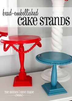 Turn basic supplies from the craft and hardware stores into these adorable (fully custom) cake stands!