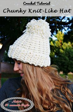 Chunky Knit-Like Hat inspired by Team USA - Free Crochet Pattern : Chunky Knit-Like Hat – Free Crochet Pattern by Nicki's Homemade Crafts patterns free hats chunky Chunky Crochet Hat, Quick Crochet, Crochet Beanie, Free Crochet, Knitted Hats, Knit Crochet, Crochet Headbands, Chunky Knits, Crochet Things