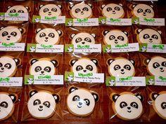 Panda Cookies - royal icing; sugar cookies
