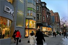 Newbury Street in Boston is a great place to find unique shops and stores.
