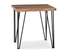Living Room (End table chair) - RENO - Solid acacia wood end table - Natural