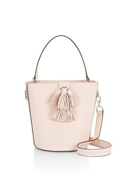 Sofia Top Handle Bucket - Like a little bucket of flowers. This charming structured bag features a roomy main compartment with an interior slit for quick access to your essentials. It comes dressed with the tassels that have made our Sofia handbag family so popular. Plus with a top handle and adjustable strap, you've got carry options. You deserve 'em.  Style #: XSP7ESOU18