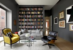 Located in a former hotel this penthouse apartment, for a family of five, was designed to balance intimate spaces for family with social spaces for guests. The owner, an interior designer, wanted the architecture of the spaces to compliment the display of colorful artwork and furnishings. As a result, the architecture is a neutral container...
