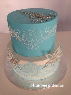 Gâteau style reine des neiges