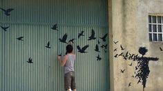 Pejac Spreads Poetic Street Art Around European Cities