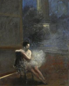 """lilithsplace: """" 'Seated Dancer' - Jean Louis Forain (1852–1931) """""""