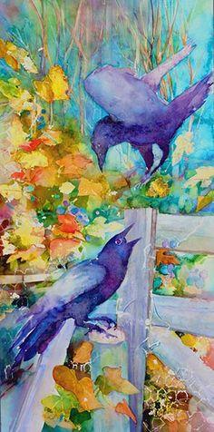 crows, watercolor by David R. Watercolor Projects, Watercolor Bird, Watercolor Animals, Watercolor Paintings, Abstract Paintings, Watercolors, Crow Art, Raven Art, Bird Art
