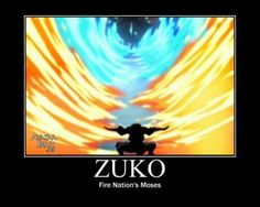Zuko splitting the red and blue fire :D  im dying! :P