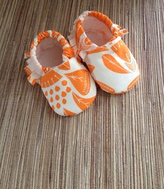 Baby Moccasins - Clementine - Ready to ship in size 3-6 months on Etsy, $18.00