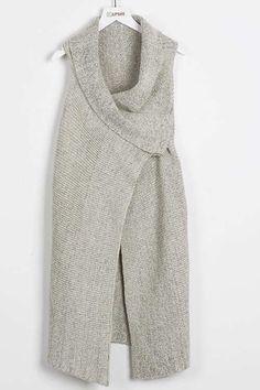 Cupshe Run the Good Sleeveless Long Sweater