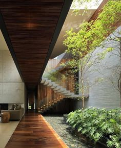 House HNN designed by Hernández Silva _______ - Architecture and Home Decor - Bedroom - Bathroom - Kitchen And Living Room Interior Design Decorating Ideas - Architecture Design Concept, Interior Architecture, Windows Architecture, Tropical Architecture, Garden Architecture, Building Architecture, Victorian Architecture, Modern Architecture House, Architecture Student