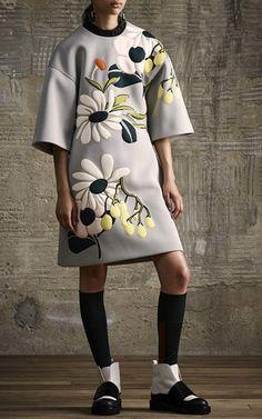 Neoprene Floral Dress by MARNI for Preorder on Moda Operandi