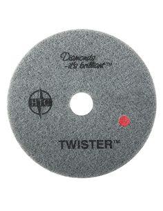 Disco de Fibra Twister Vermelho 20'' Gr. 400 TWISTER™ RED (VERMELHO) (Grão 400) Para uso em enceradeiras de baixa e alta rotação Para uma limpeza pesada de pisos desgastados. Twister™ Red remove eficientemente arranhões e manchas, deixando a superfície preparada para os próximos passos do sistema Twister™. www.colar.com