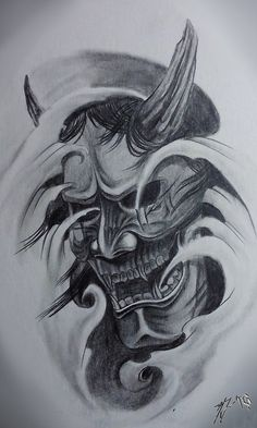 Hannya mask - traditional classic by JackCoffins                              …