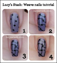 """splashduck """"what's new in nail art"""" collection. Lucy's Stash - Tutorial for the Weave pattern"""