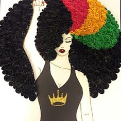 Madina by Quillqueen Andrea Stevens Black Love Art, Black Girl Art, My Black Is Beautiful, Black Girls Rock, Black Girl Magic, Art Girl, Black Lady, Beautiful People, Black Art Painting
