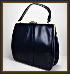 Vintage Vinyl Kelly Bag by Adrienne Handbags