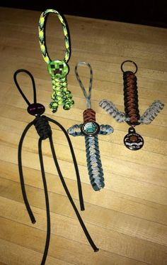 MINECRAFT Zipper Backpack Pulls by ParacordTeamProducts on Etsy, $4.00