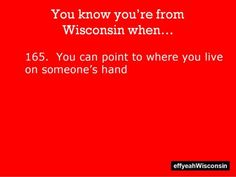 That is incorrect, Wisconsin is not a mitten, Michigan is a mitten. Look at a map, Wisconsin you're drunk.