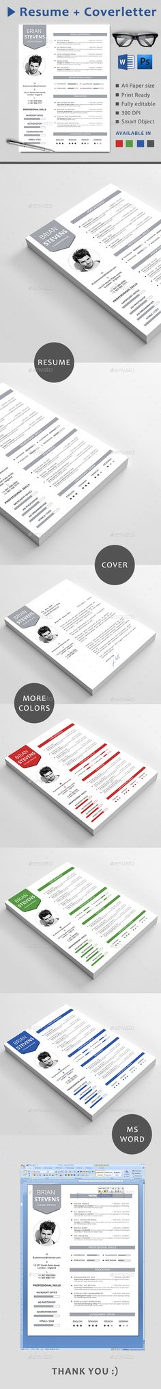 #Resume - Resumes #Stationery Download here: https://graphicriver.net/item/resume/14247812?ref=alena994