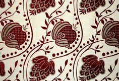 Chess: Tribella - Red.  I love this floral print - Possibly as a roman blind in guest bedroom - and teamed with a simple cream curtain for Large window?