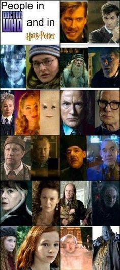 Let's hope there are even more actors on this list in future Doctor Who episodes! I love seeing actors who have been in both Harry Potter and Doctor Who. The Doctor, Doctor Who, Eleventh Doctor, Dr Who, David Tennant, Matt Smith, Science Fiction, Fan Fiction, Kino Film