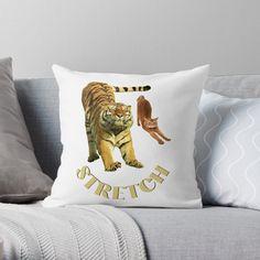 Small Cat, Stretching Exercises, Original Art, My Arts, Cushions, Throw Pillows, Art Prints, Printed, Cats