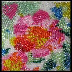 How to bead patterned fabric