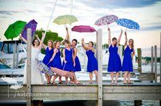 Vera Bradley umbrellas as wedding party gifts/photo props. I'm in love!