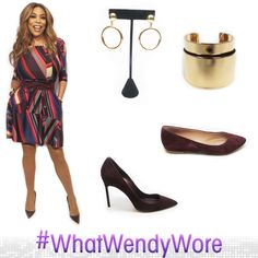 #WhatWendyWore  dress: @donnamorgan_nyc tights: @nudebarre jewelry: @baublebar belt: @whbm glasses: @ogieyewear shoes: @manoloblahnikhq flats: @hsn #wendyhsncollection styled by: @memsor
