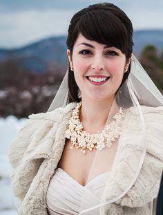 CUSTOM MADE - Secret Garden Bridal Statement Necklace. $400.00, via Etsy.