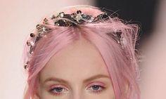 pink hair/makeup
